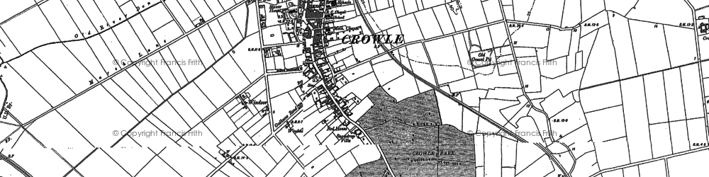 Old map of Windsor in 1890