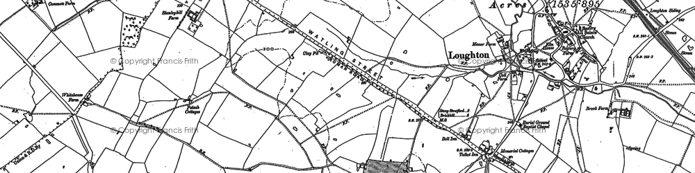 Old map of Crownhill in 1898