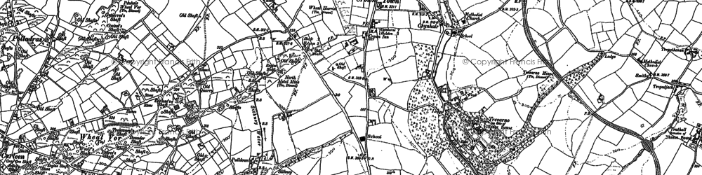Old map of Wheal Vor in 1877