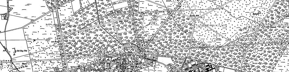 Old map of Crowthorne in 1909