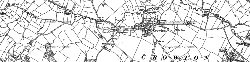 Old map of Crowton in 1897