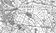 Old Map of Croxden, 1880 - 1899