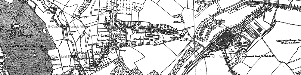Old map of Tolpits Ho in 1913