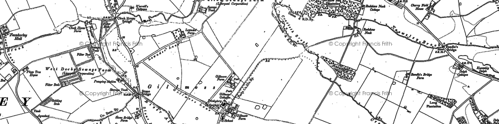 Old map of Croxteth in 1891