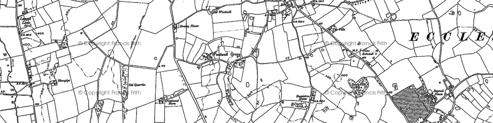 Old map of Woodwall Green in 1879