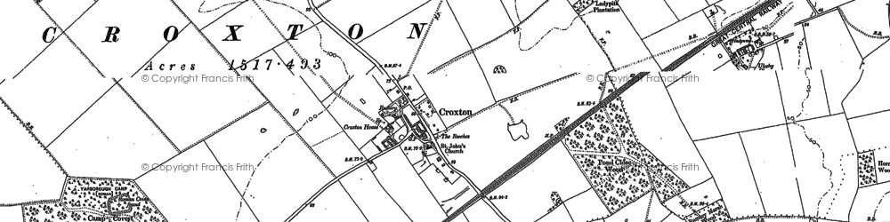 Old map of Yarborough Camp in 1886