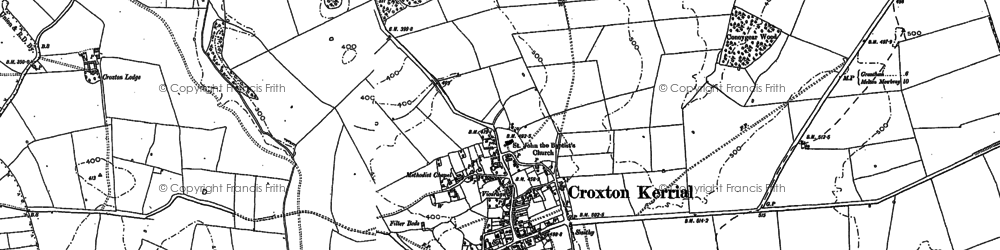 Old map of Tipping's Lodge in 1884