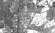 Old Map of Croydon, 1895
