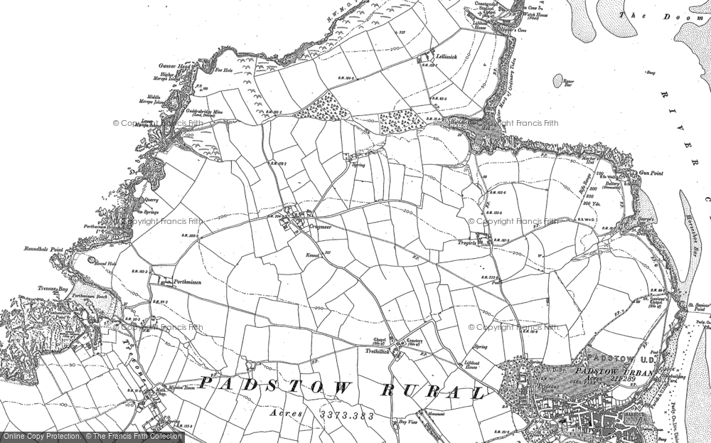 Old Map of Historic Map covering Lellizzick in 1905