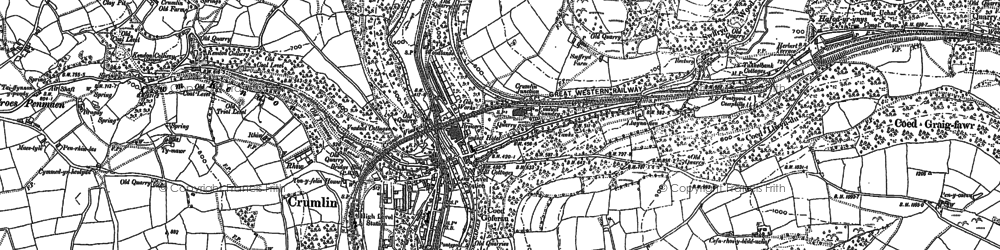 Old map of Crumlin in 1899