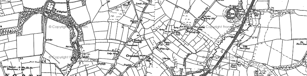 Old map of Withybush in 1887