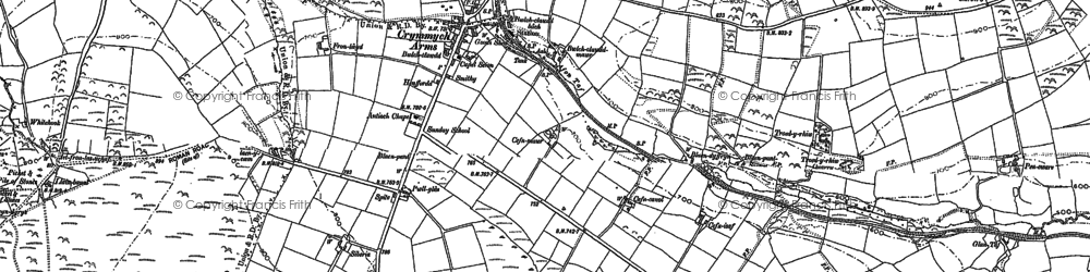 Old map of Crymych in 1888