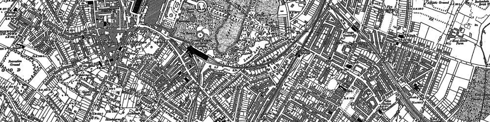 Old map of Crystal Palace in 1894