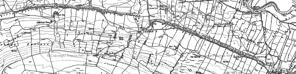Old map of Addlebrough in 1892