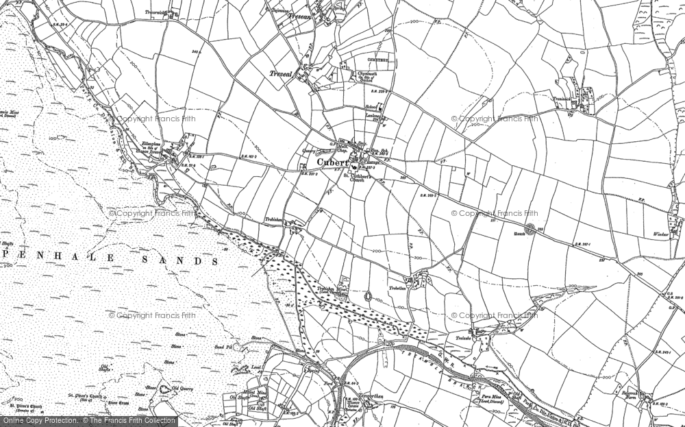 Old Map of Cubert, 1906 in 1906