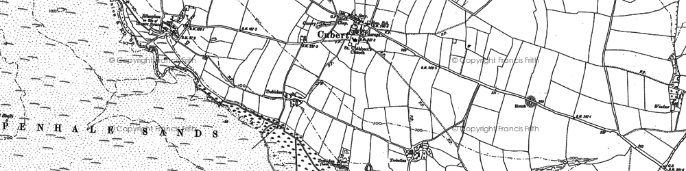 Old map of Ellenglaze in 1906