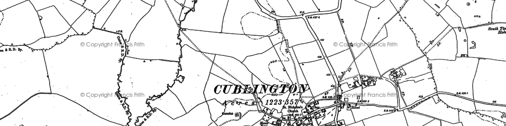 Old map of Cublington in 1898