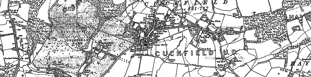 Old map of Cuckfield in 1896