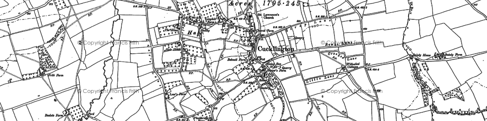 Old map of Cucklington in 1901
