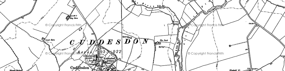 Old map of Cuddesdon in 1897