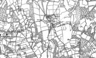 Old Map of Cudham, 1907 - 1908