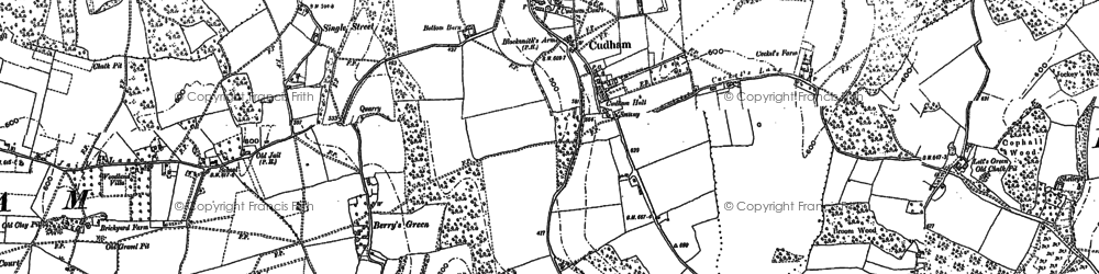 Old map of Cudham in 1907