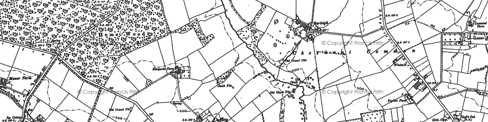 Old map of Cuffley in 1912