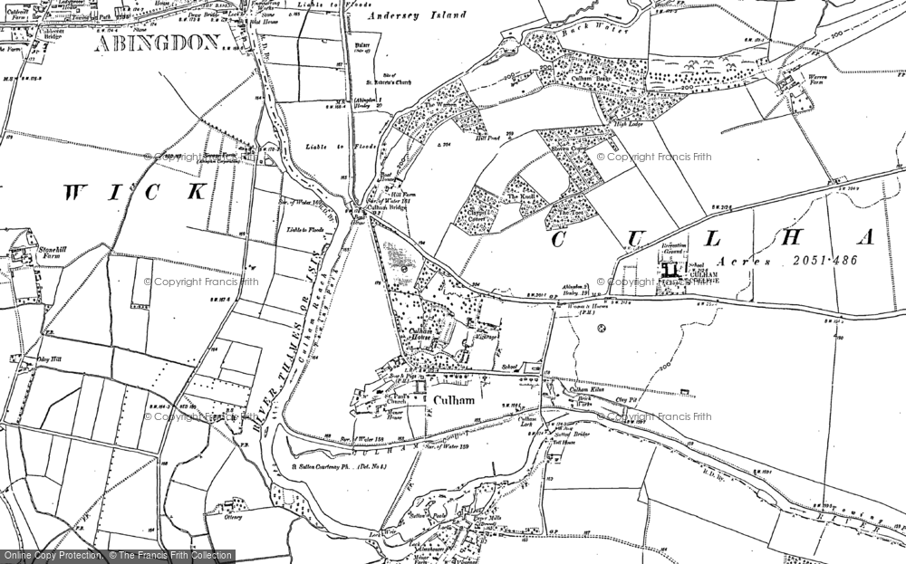 Map of Culham, 1910 - 1911