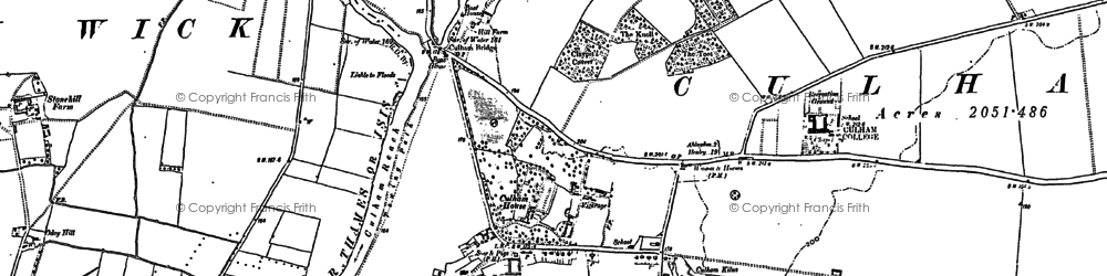 Old map of Culham in 1910