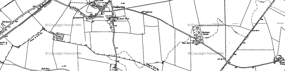 Old map of Culkerton in 1898