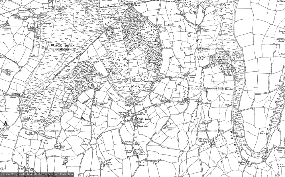 Old Map of Historic Map covering Whitehall in 1887