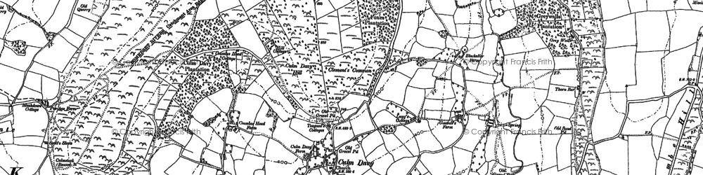 Old map of Whitehall in 1887