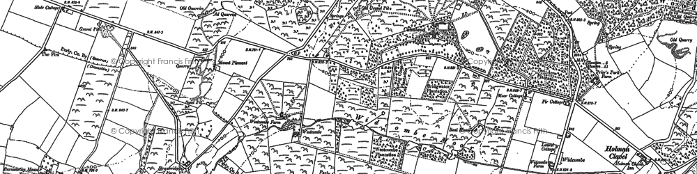 Old map of Westcombe in 1903