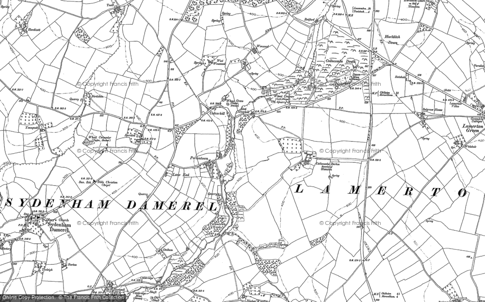 Old Map of Historic Map covering Wonwood in 1882