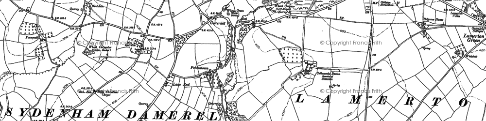 Old map of Wonwood in 1882