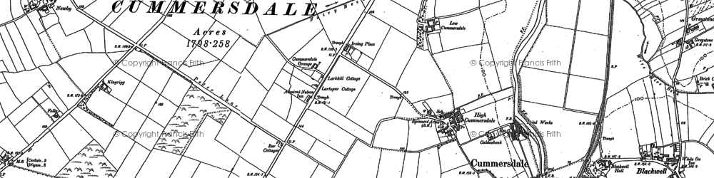 Old map of Cummersdale in 1899