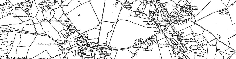 Old map of Whitebarn in 1910