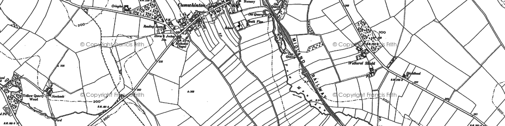 Old map of Wetheral Shield in 1899