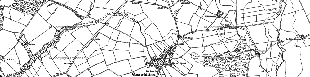 Old map of Whitehead Hill in 1898