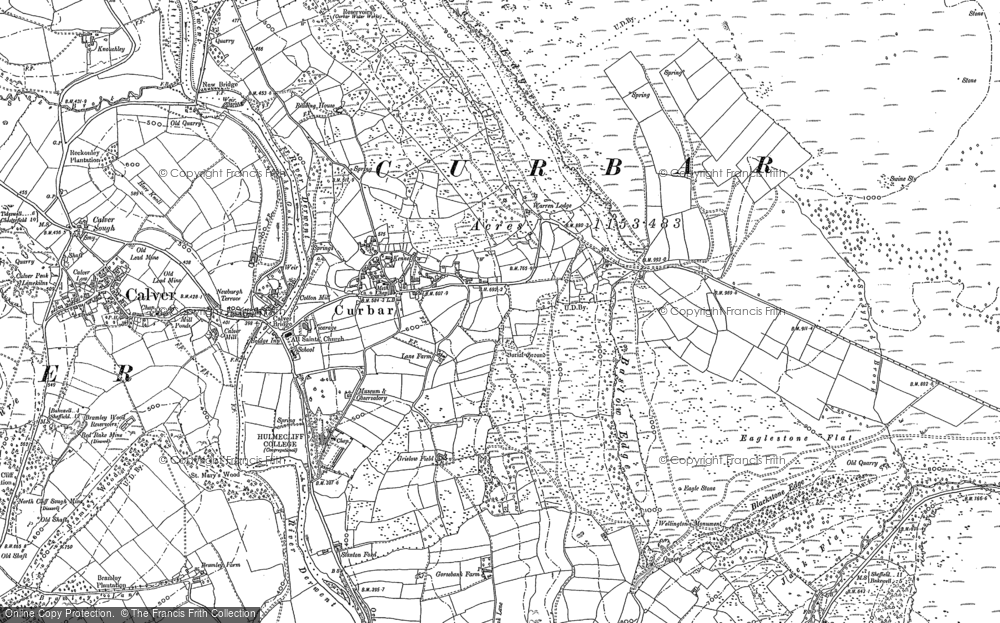 Old Map of Historic Map covering Bar Brook in 1878