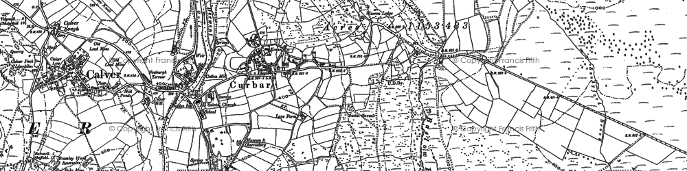 Old map of Bar Brook in 1878