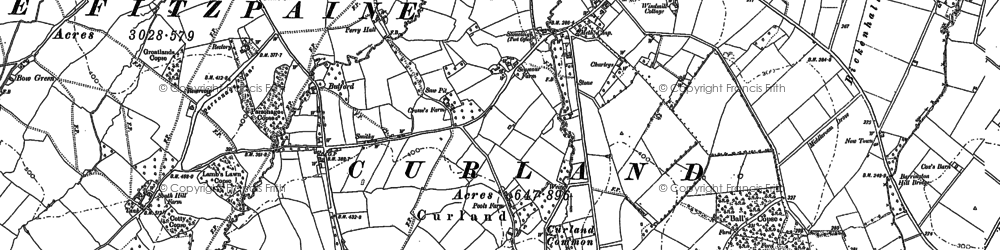 Old map of Whitty in 1886