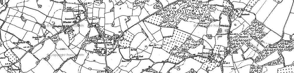 Old map of Winchet Hill in 1895