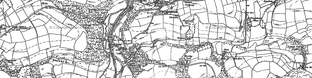 Old map of Wheeldon in 1885