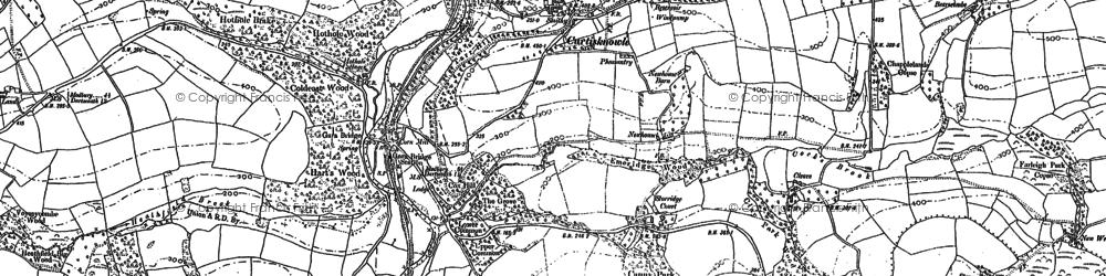 Old map of Gara Bridge in 1885