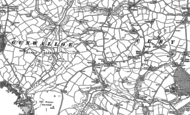 Old Map of Cury, 1906