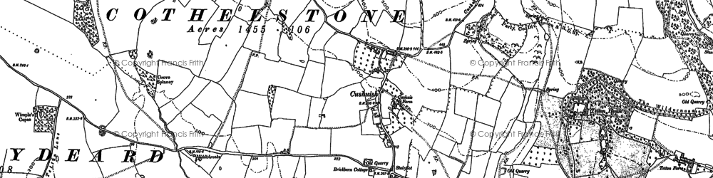 Old map of Yarford in 1887