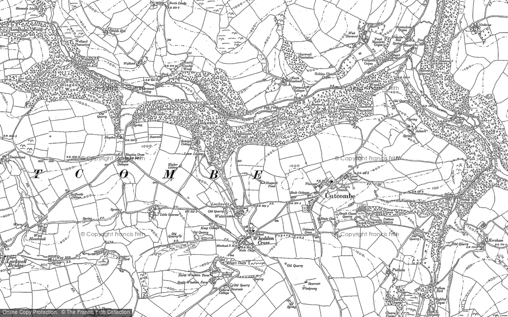 Old Map of Historic Map covering Ashwell in 1887