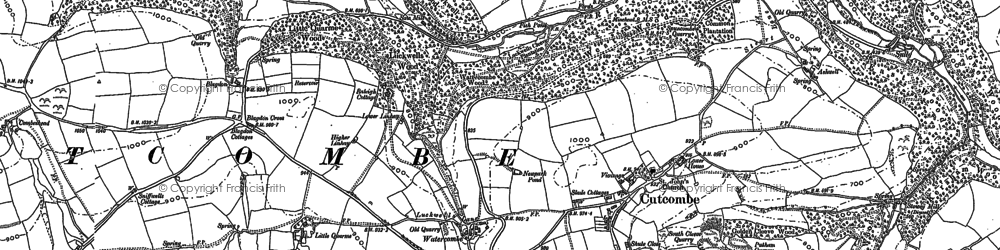 Old map of Ashwell in 1887