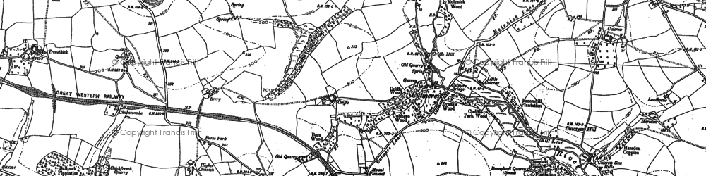 Old map of Tilland in 1882